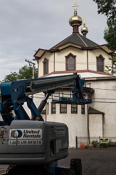 Metal Restoration is Near Completion, Stucco Work Begins