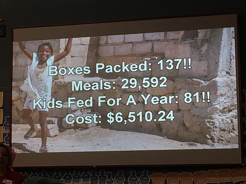 Nov. 3rd we helped to feed 81 kids in the Ukraine for 1 year!